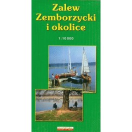 Zalew zemborzycki i okolice - mapa