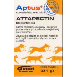 Aptus Attaperctin 30 tabletek Tabletki przeciwbiegunkowe dla psów i kotów