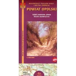 Powiat Opolski. Szlaki rowerowe, piesze. Ścieżki dydaktyczne Mapa turystyczno-przyrodnicza 1:100 000