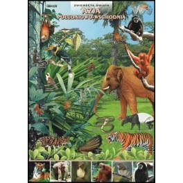 Azja Południowo-Wschodnia Zwierzęta świata Plansza dydaktyczna