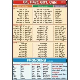 Be, have got, can & Pronouns Plansza dydaktyczna