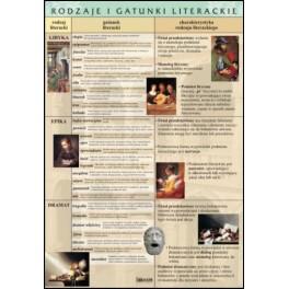 Rodzaje i gatunki literackie Plansza dydaktyczna