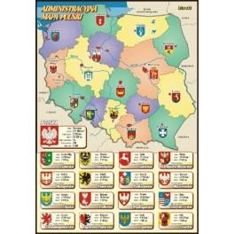Administracyjna mapa Polski Plansza dydaktyczna