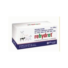Rehydrat 280 g Dodatek zawierający elektrolity dla bydła, owiec, kóz, świń, koni i psów.