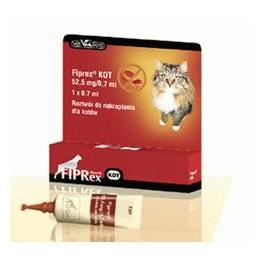 Fiprex KOT 1 dawka  Preparat do zwalczania kleszczy, pcheł i wszy