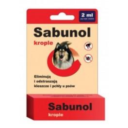 Sabunol krople przeciw pchłom i kleszczom dla psa 2 ml