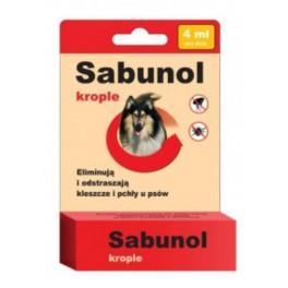 Sabunol krople przeciw pchłom i kleszczom dla psa 4 ml