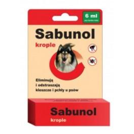 Sabunol krople przeciw pchłom i kleszczom dla psa 6 ml
